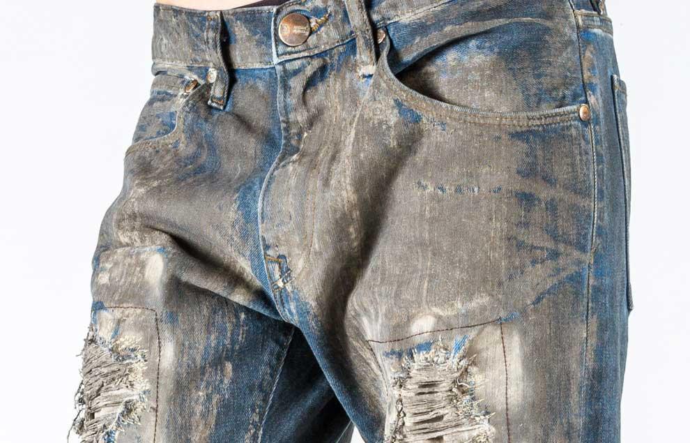 Garmon's Coating products on a pair of jeans